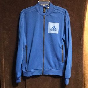 Size small Adidas track jacket blue and awesome